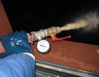 Испытание системы внутреннего противопожарного водопровода на водоотдачу.