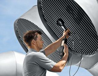 Аэродинамические испытания систем противодымной защиты.